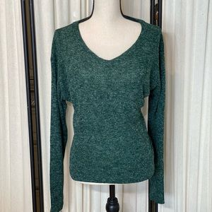 Vintage Free People Green Wool Blend Sweater M